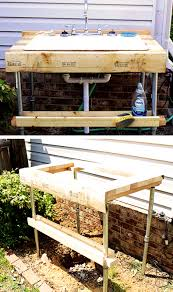 Build Outdoor Garden Table by Easy To Build Outdoor Garden Sink