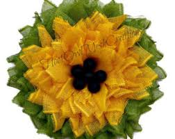 Sunflower Mesh Wreath Etsy Your Place To Buy And Sell All Things Handmade