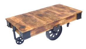Industrial Cart Coffee Table Industrial Cart Coffee Table Dipinto