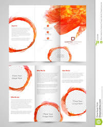 sided tri fold brochure template abstract business trifold brochure template or flyer stock
