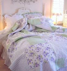 Shabby Chic Twin Quilt by Shabby Cottage Lavendar Shabby Chic Twin Cottage Lavender