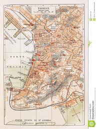 Trieste Italy Map by Old Map Of Trieste Stock Images Image 21064734