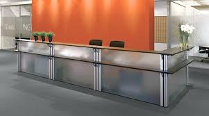 Reception Desk With Glass Display Glass Reception Desk Frosted Glass Reception Desk Glass Block
