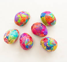 paper mache easter eggs sparkly diy glitter and tissue paper easter eggs