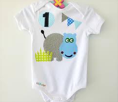 1st birthday onesie 1st birthday hippo onesie baby boy birthday bodysuit animal