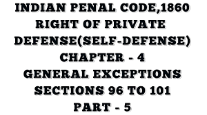 sections in law right of private defense indian penal code 1860 chapter 4 part 5