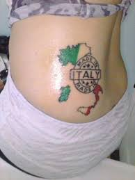 coloured made in italy tattoo on lower back tattooimages biz