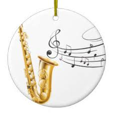 saxophone ornaments keepsake ornaments zazzle