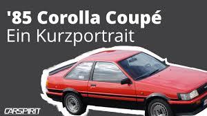 toyota coupe 85 toyota corolla coupé u2013 kurzportrait von carspirit youtube