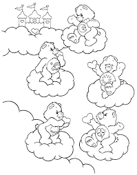 draw care bear kids coloring