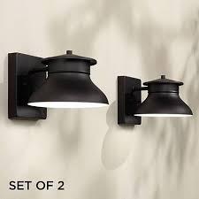 Black Interior Wall Lights Set Of 2 Danbury Led Black 5