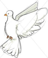 dove with white cross on black dove clipart