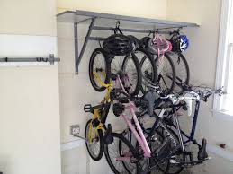 Wall Storage Ideas by Amazing Nice Garage Bike Storage Ideas On The Wall Of Smart Garage