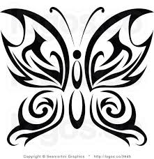 butterfly tribal clipart 49
