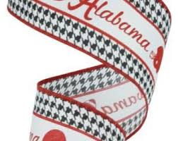 alabama ribbon 1 5 wired alabama houndstooth a ribbon
