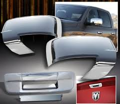2011 dodge ram parts dodge ram 3500 2010 2012 chrome mirror covers and tailgate handle