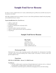 Resume Samples In Sales And Customer Service by Download Server Resume Template Haadyaooverbayresort Com