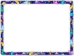 cool frame outer space frame royalty free vector clip art illustration