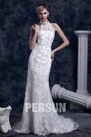 robe de mari e dentelle sirene robe de mariée dentelle trompette sirène à col roulé à traîne
