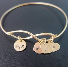 Infinity Bracelet With Initials Mom Christmas Gift From Daughter Or Son Mom Gift