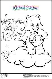 coloring pages cheer bear coloring pages free printable coloring