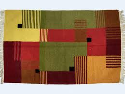 Modern Abstract Rugs Abstract Rug Modern Geometric Yellow Kilim Hand Knotted Discovered