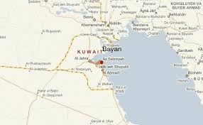 kuwait on a map bayan location guide