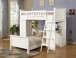 white twin loft bed with desk foter