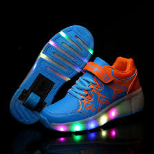 heelys light up shoes new children shoes with wheels chaussure lumineuse enfant pour fille
