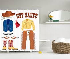 Cowboy Decorations For Home Amazon Com Western Shower Curtain Decor Southwestern Cowboy Hat