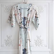 dressing gown personalised bridal blossom dressing gown by mini lunn