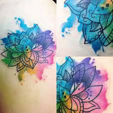 watercolor lotus flower design