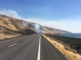 Wildfire Columbia Gorge Oregon the wsdot blog washington state department of transportation