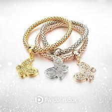 pandora butterfly bracelet charm images Butterfly quot charm bracelet with austrian crystals pandoras box inc jpg