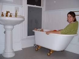 bathroom ideas with clawfoot tub bathroom clawfoot bathtubs with norah copper slipper
