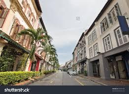 singapore preserved historic peranakan row houses stock photo