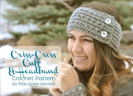 crochet hairband free crochet headband and cuff pattern birdie secrets