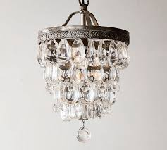 Extension Chain For Chandelier Clarissa Crystal Drop Small Round Chandelier Pottery Barn
