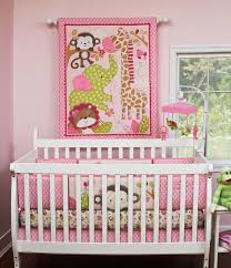 pink crib bedding musical mobile nursery and girls