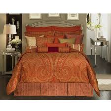 enchanting burnt orange king size bedding 45 about remodel target