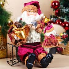 Santa Claus In Helicopter Christmas Decoration by Christmas Sitting Santa Claus Doll Home Xmas Ornament Decoration