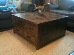rustic storage coffee table furniture diy secret rustic storage