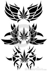 banishes thoughts marijuana leaf image representing stylized