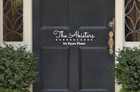 Door Decals For Home by Personalized No Flyers Please Vinyl Door Decal Custom Door