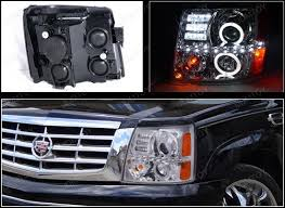 02 cadillac escalade 02 06 cadillac escalade r8 dual halo projector led daytime headlights