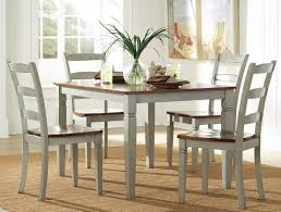 distressed gray dining table rustic set grey solid wood room