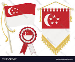 Singapore Flag Button Singapore Flags Royalty Free Vector Image Vectorstock