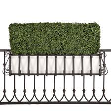 outdoor artificial boxwood hedges in planter boxes hooks u0026 lattice