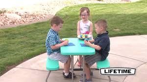 Lifetime Kids Table 60219 Kids Picnic Table Aqua Youtube
