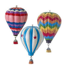 set of 3 polyresin air balloon ornaments 3balorn 25 00